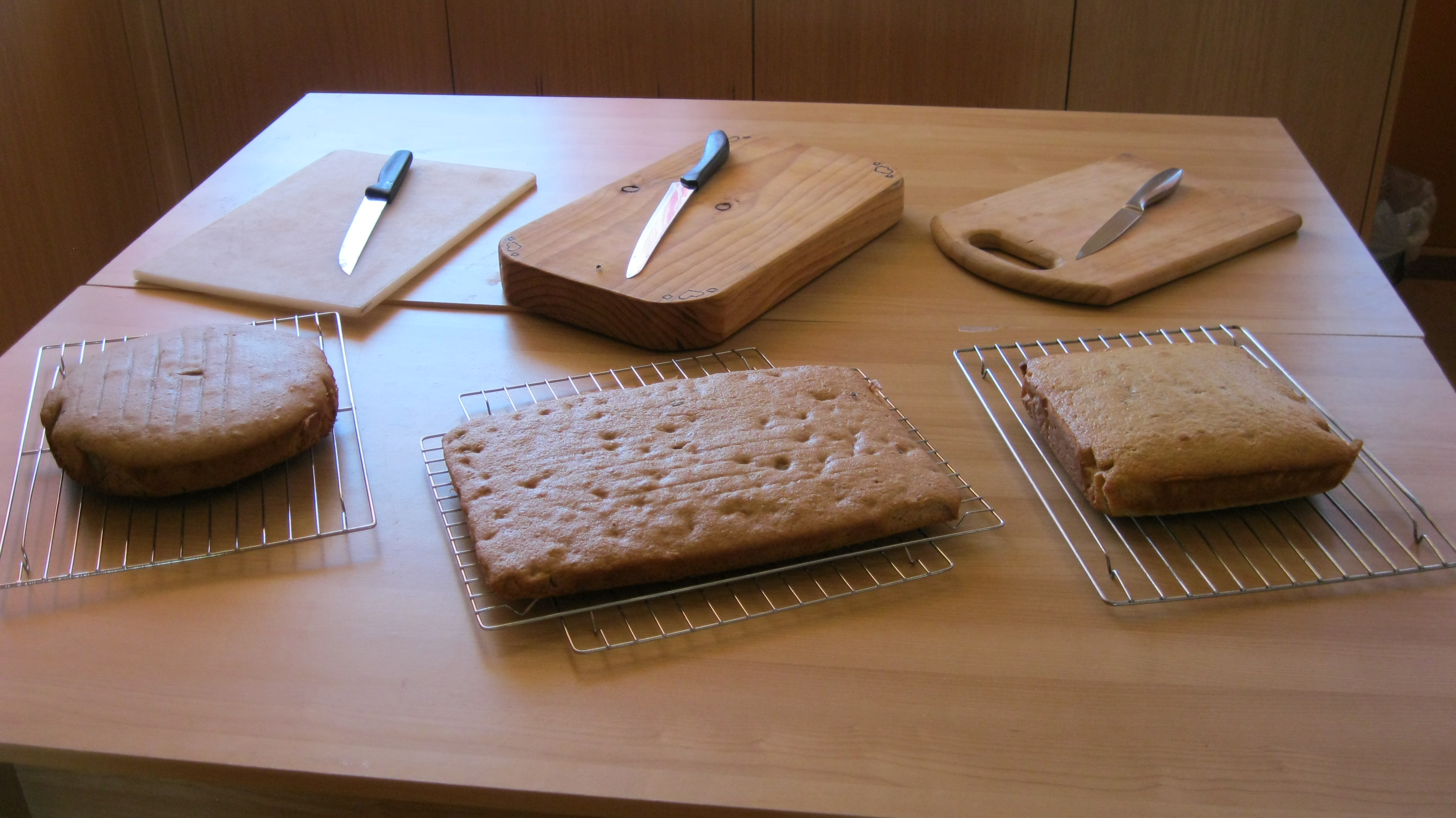 CAKES COOKED - READY FOR FRACTION SLICING
